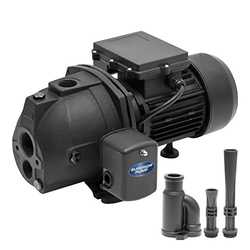 Superior Pump 94715 3/4 HP Cast Iron Convertible Jet Pump