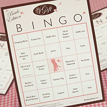 Amazoncom Bridal Shower Bingo Gift Bingo Edition 50 Players