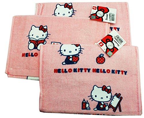 Pink Hello Kitty Artist Hand Towels (3 Piece)