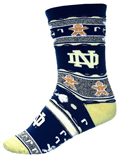 Notre Dame Costumes (For Bare Feet Ugly Christmas Xmas Holiday Sports Socks NFL NCAA MLB NBA NHL (Medium, Notre Dame Fighting Irish))