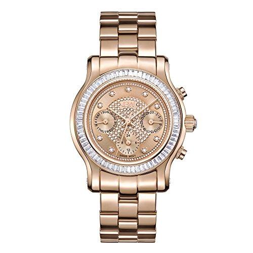 JBW Women's 'Laurel' Swiss Quartz Plated Stainless Steel Watch, Color:Rose Gold-Toned (Model: J6330C)