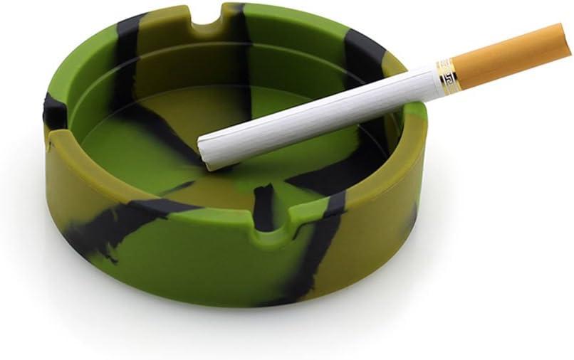 Camouflage 1 St/ück VORCOOL Aschenbecher Zigarette Asche rauchfreies Tablett Eco Friendly Silikon hitzebest/ändig Indoor Outdoor-Einsatz