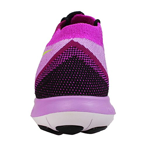 Nike Free 3.0 Flyknit, Women's Running BLACK/FLASH LIME-RASPBERRY RED-FUCHSIA F