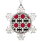 Xmas Trees Decorated Bohemian Southwest Tribal Aztec pattern Personalized Snowflake Ornament Turkish
