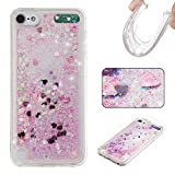 iPod Touch 5 Case,Touch 6 Case,Gift_Source [Pink] Fashion Bling Sparkle 3D Creative Liquid Quicksand Floating Flowing Glitter Design Soft TPU Gel Rubber Case Cover For iPod touch 5/Touch 6
