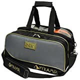 Pyramid Path Double Tote Plus Clear Top Bowling Bag (Black/Gold/Grey)