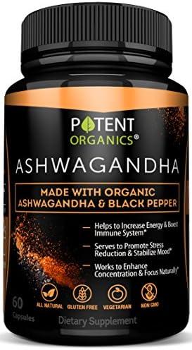 100 Organic Ashwagandha 1300 Vegetarian
