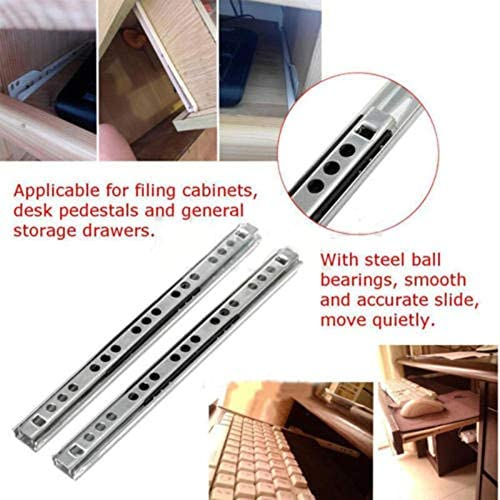 Color: 10 inch 2pcs Furniture Guide Rail Drawer Slide Drawers Locker Cupboard