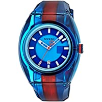 Gucci Sync XL Blue Dial Men's Two Tone Watch