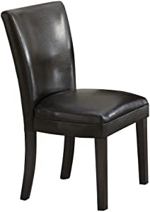 Wildon Home Crawford Parsons Chair [Set of 2] Upholstery: Black
