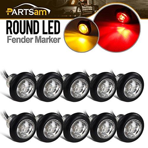 Side LED Marker Lights for Trailer Truck RV Car Bus Van 3//4 led Marker Lights with Plugs Connectors Partsam 8X Boat Trailer Bullet Sealed Amber Clearance /& Side Marker Light Lamp Clear Lens w//Plugs