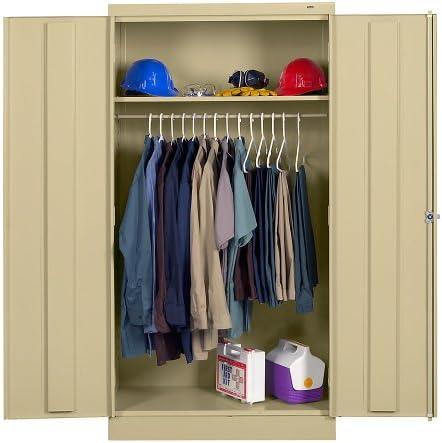 Tennsco Wardrobe Cabinet – 36 Wx18 Dx72 H – Unassembled – Sand – Sand