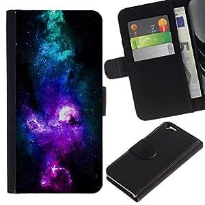 All Phone Most Case / Oferta Especial Cáscara Funda de cuero Monedero Cubierta de proteccion Caso / Wallet Case for Apple Iphone 6 // NEON PURPLE BLUE GALAXY
