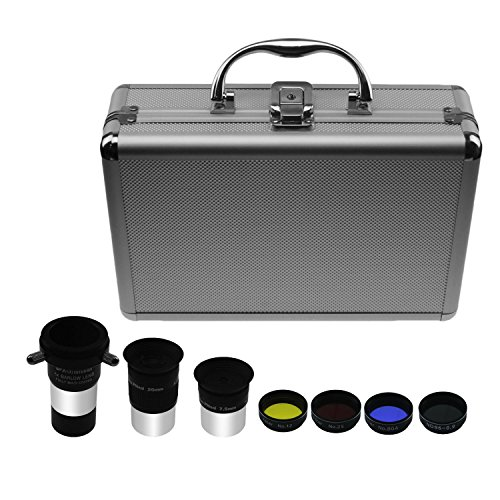 Astromania 1.25-Inch Astronomical Telescope Accessory Kit - a useful set of accessories for the newcomer to astronomy with high performance-price ratio (Lens 4x Barlow Telescope)