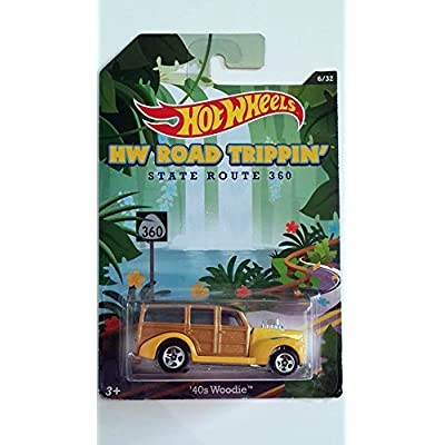 Mattel Hot Wheels 2014 Hw Road Trippin' '40s Woodie - 6/32 State Route: Toys & Games
