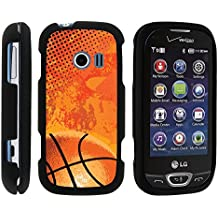 LG Extravert 2 Phone Case, Slim Hard Shell Snap On Case with Custom Images for LG Extravert 2 VN280 (Verizon) by MINITURTLE - Orange Basketball Pattern