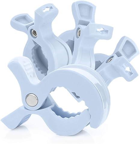 cochecito de beb/é l/ámpara de juguete ZALING 4 piezas de accesorios para asiento de coche de beb/é pinzas para cobija amarillas azul azul Talla:talla /única