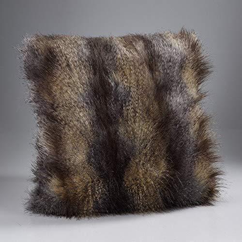 Cama de lujo eggelston directa de pelo largo cojín de piel ...