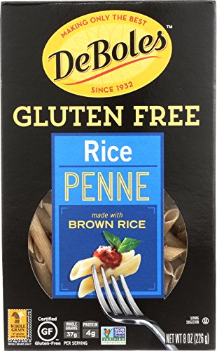 DeBoles Gluten-Free Rice Pasta, Penne, 8 Ounce (Pack of 12) (Packaging may (Italian Pasta Rice)