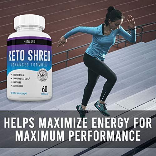 Keto Ultra Shred Diet Pills - Keto Advanced Weight Loss Fat Burners for Women and Men | Keto BHB Salts to Burn Fat Fast on Keto Diet | Ketogenic Keto Slim Supplement |Exogenous Ketones - 60 Count 5