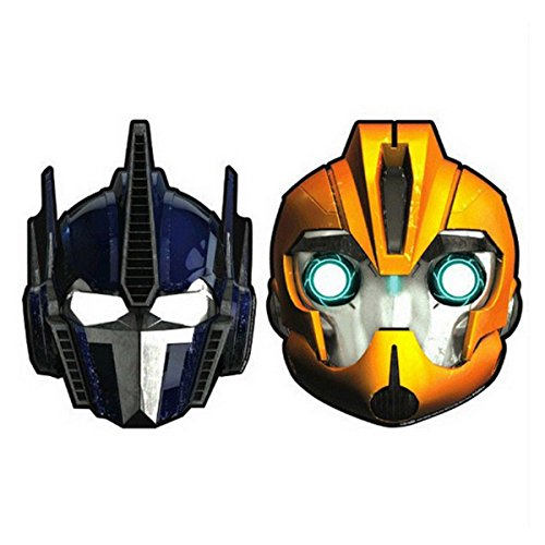 Transformers Optimus Prime Mask (8 Transformers Optimus Prime Bumble Bee Birthday Paper Party Favor Masks)