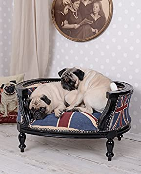 Sofá para perro Barroco CAMA PARA PERRO Union Jack Cubierta hundebettchen fregonas BULLY CAMA PARA GATO Palazzo Exclusivo: Amazon.es: Productos para ...