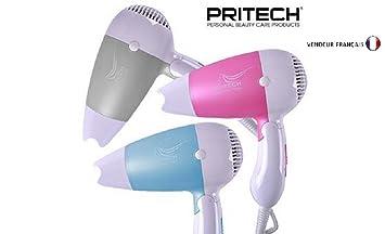 Profesionnel secador de pelo de viaje 1200 W AC Motor céramic y Ionic - Pritech: Amazon.es: Salud y cuidado personal