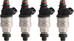 MOSTPLUS 750CC Fuel Injectors for Lancer EVO 4 5 6 7 8 9 RX-7 High Impedance w/ EV1 clips (Set of 4)
