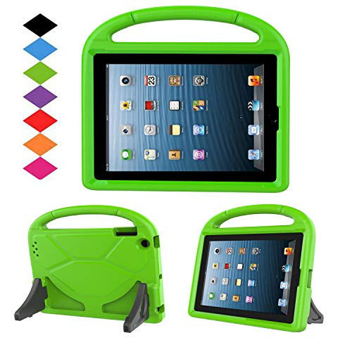 Kids Case for iPad 2 3 4 - TIRIN Shock Proof Convertible Handle Light Weight Durable Super Protective Stand Cover for iPad 4, iPad 3 & iPad 2 2nd 3rd 4th Generation Tablet,Green (Cover Tablet Ipad 3)