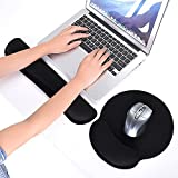 2-in-1 Memory Foam Wrist Rest Pad Keyboard Mouse Support Cushion
