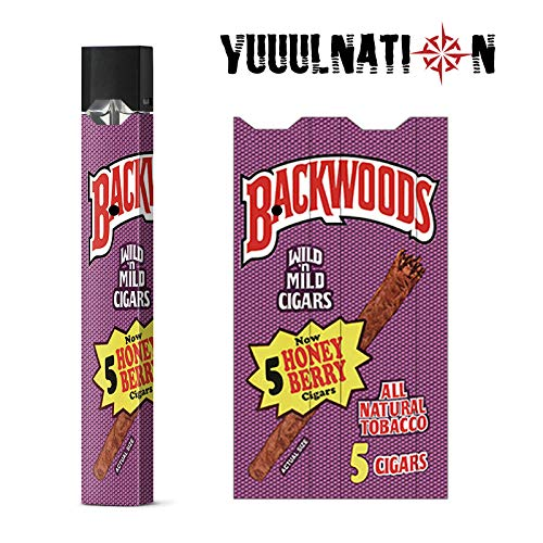 YuuulNation Original Juul Skin, 3m Durable Vinyl, Full Fit Coverage, Charger Compatible, Vinyl, Decal, Wrap (Backwoods)