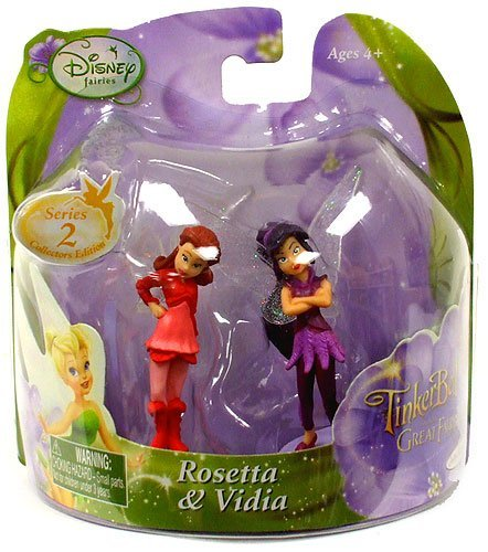 Disney Fairies Tinker Bell And The Great Fairy Rescue 2 Inch Mini Figure 2Pack Rosetta Vidia