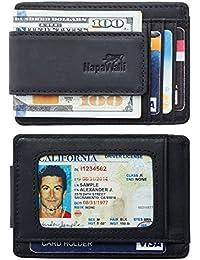 Genuine Leather Magnetic Front Pocket Money Clip Wallet...