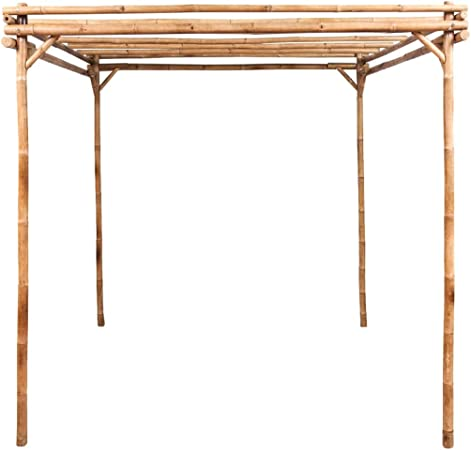 Benkeg Pérgola de Bambú 170X170X220 Cm Resistente a La Intemperie ...