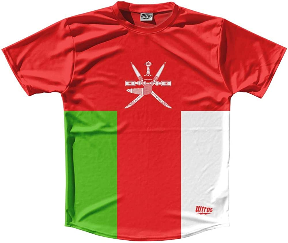 Oman Country Flag Running Shirt Track Cross Country Performance Top Made in USA