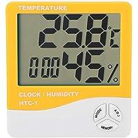 Akozon Medidor de Temperatura y Humedad HTC-1-10 ° C ~ + 70 ° C (-14 ° F ~ + 158 ° F) 10% ~ 90% RH Higrómetro…