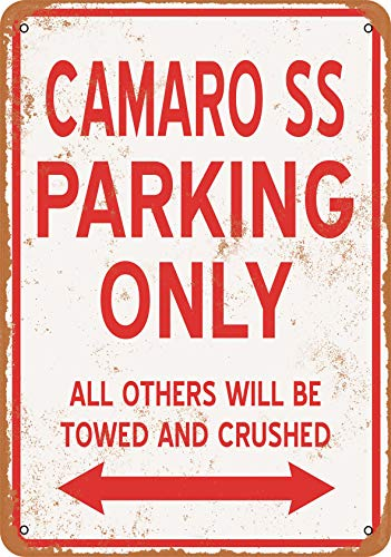 Wall-Color 9 x 12 Metal Sign - Camaro SS Parking ONLY - Vintage Look