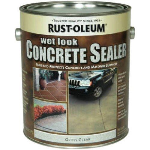 RUST-OLEUM 239416 Rust-Ileum Gallon Wet Look, Sealer (Patio Concrete Look Wet Sealer)