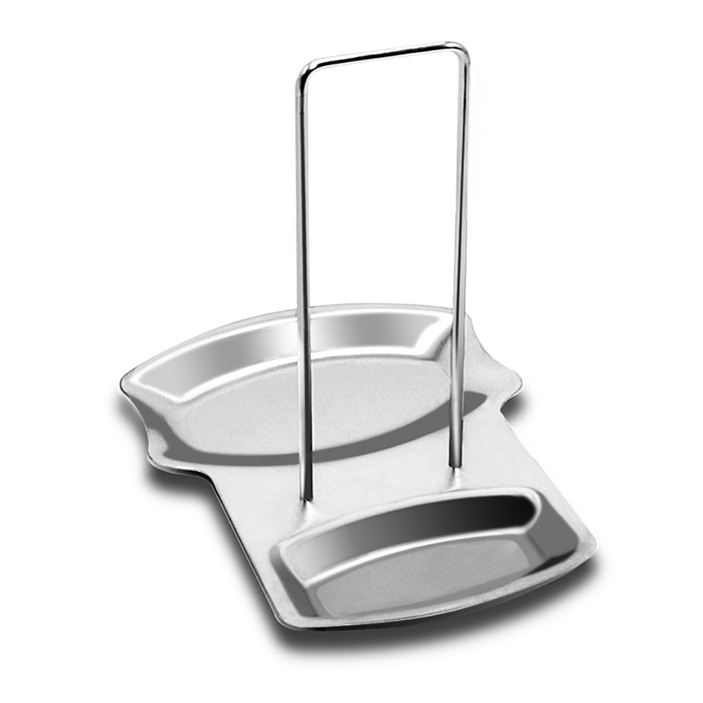 Sunnyac 2 in 1 Stainless Steel Utensil Rest Lid cook Spoon Holder , Kitchen Accessories Utensil Lid Holder , Dishwasher Safe .