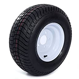 2 Trailer Tire & Rims 20.5 X 8 X 10 205/65-10 20.5/8-10 20.5/800-10 5 Lug White