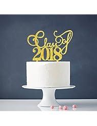 INNORU Class of 2018 Cake Topper - Congrats 2018 Graduate - Grad Party Decorations Supplies - High School Graduation, College Graduate Cake Topper