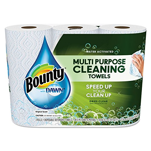 "Bounty 92379EA Paper Towels with Dawn, 2-Ply, 11"" x 14"", Whi"