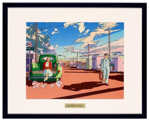 わたせせいぞう アートポスター(オフセット) TWO ON THE ROAD B00H0H1816