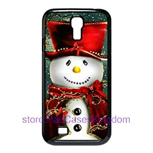 Merry Christmas Snowman theme hard case for Samsung Galaxy S4/SIV i9500 designed by padcaseskingdom