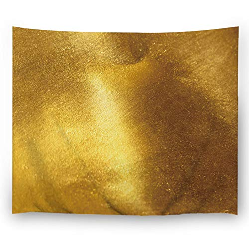 Gold Foil Texture - Misscc Wall Decor Tapestry Shiny Yellow Gold Foil Texture Background Wall Hangings Tapestries for Bedroom Living Room Dorm