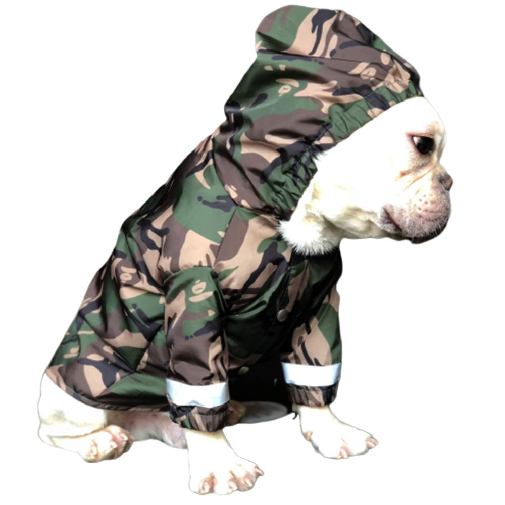 Dog Raincoat, Ultra-Light Breathable 100% Waterproof Rain Jacket, Dog Raincoat with Hood, Safe Reflective Strips