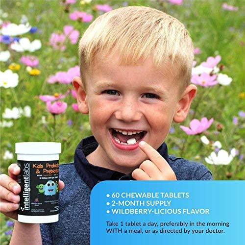 51fLh6aKu L. AC - 6 Billion CFU Kids / Children's Probiotics With Prebiotics, Sunfiber And Fos, For 10x More Effectiveness. One A Day Great Taste Chewable Probiotic, 2 Months Supply Per Bottle