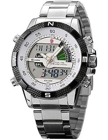SHARK Men's Army Sport Wrist Watch Analog Digital/ Lcd/ Chronograph SH046 (Fantasy Wrist Watch)