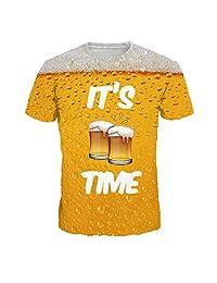 Naladoo Men 3D Printed Funny T-Shirt Casual Cool Summer Short Sleeve Tees Blouse