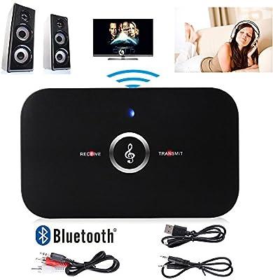 HIFI Bluetooth 4.1 Transmisor de audio y receptor,Lenuo Manos ...